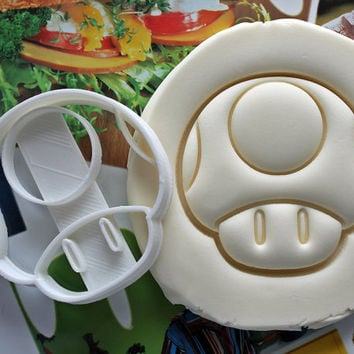 Toad Super Mario Cookie Cutter / Made From Biodegradable Material / Brand New / Party Favor / Kids Birthday / Baby Shower / Cake Topper