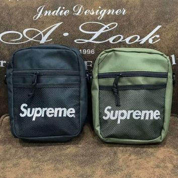 SUPREME Fashion new single shoulder bag oblique straddle bag for women and men wallet small bag two color