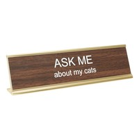 He Said, She Said 'Ask Me About My Cats' Desk Sign | Nordstrom
