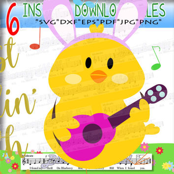 Chillin with my peeps SVG - Easter Chillin with my peeps  - Cute chicken cut file -  Cut Files - DIY- Svg - Dxf- Eps - Png -Jpg - Pdf