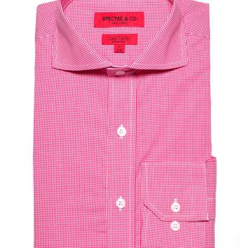 Pink Micro-Gingham Dress Shirt