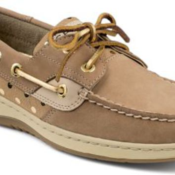87e394c6444 Sperry Top-Sider Bluefish Metallic Dot 2-Eye Boat Shoe Linen/Gold, Size  5.5M Women's Shoes