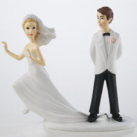 Runaway Bride Cake Topper Figurine - Wedding Cake Topper