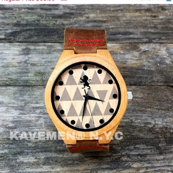 SALE Minimalist Wood Watch. Mens Watch. Engrave Watch. Personalized Watch. Mens Watches. Mens Personalized Watch. Nevada. Kavemen.