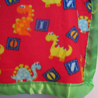 Lucy's Nini Collection - Fleece Dinosaur Blanket