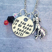 To See Her Is To Take A Sudden Chill Necklace - Fairytale Jewelry - Once Upon A Time Jewelry - Villain Jewelry - Cruella Jewelry
