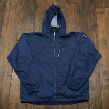 Columbia Sportswear XCO Packable Windbreaker Navy Blue Jacket Mens Size Medium