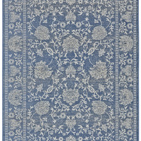 Antique Collection Power Loomed Polypropylene Area Rug in Denim design by BD Fine
