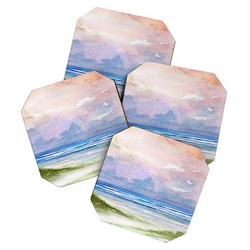 Rosie Brown Seashore Sunset Coaster Set