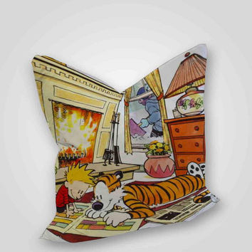calvin and hobbes quotes, pillow case, pillow cover, cute and awesome pillow covers