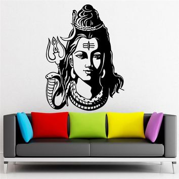 Lord Shiva Hindu God Decal Wall Art Sticker