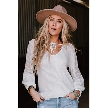 Charming Effect Top - Ivory
