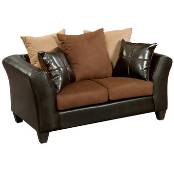 Flash Furniture Chocolate Microfiber Loveseat [RS-4170-01L-GG]