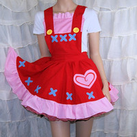 Reese Animal Crossing: New Leaf Pinafore Apron Costume Skirt Adult ALL Sizes - MTCoffinz