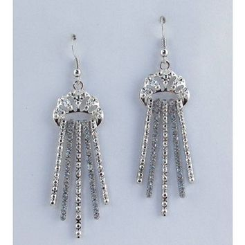 Cascade fringe drop earrings