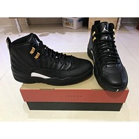 Air Jordan 12 The Master Aj12 Black/gold 130690 013