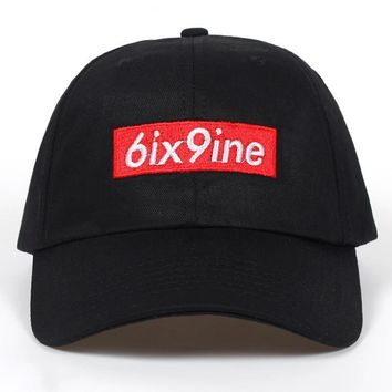 Trendy Winter Jacket 2018 new 6ix9ine Album dad Hat (slide buckle) fashion style cotton snapback cap seasons caps men women brand baseball cap hats AT_92_12