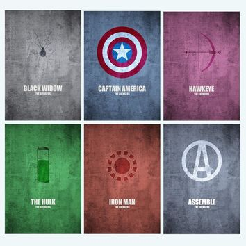 Marvel Captain America Hulk Iron Man Wall Art Canvas Painting Nordic Posters And Prints Wall Pictures For Living Room Home Decor