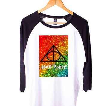 Harry Potter Always.. Short Sleeve Raglan - White Red - White Blue - White Black XS, S, M, L, XL, AND 2XL*AD*