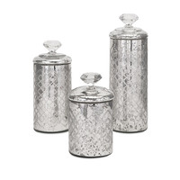 Nikki Chu Waldorf Mercury Glass Canisters - Set of 3