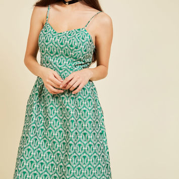 Evenings Overseas A-Line Dress in Clover | Mod Retro Vintage Dresses | ModCloth.com