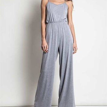 Cross Open Back Jumpsuit