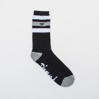 3 Stripe High Cut Socks (3 Pack) in Black/Grey