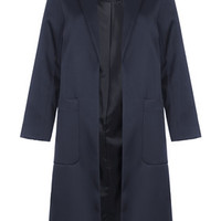 Heavy Dress Coat - Navy