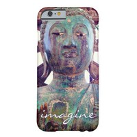 """""""Imagine"""" Quote Asian Turquoise Statue Head Photo Barely There iPhone 6 Case"""