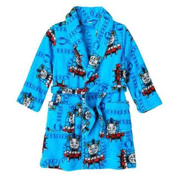 CREY7GX Thomas & Friends Thomas Fleece Robe (Blue/Flame)