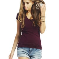 Solid V-Neck Tee | Wet Seal