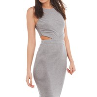 Bodycon Dress | Grey Cut Out Midi Dress | Going Out Looks -AKIRA
