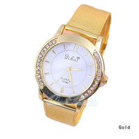 2015  hot sale  new fashion Classic Watch Women's Wrist Quartz Dress Watch Gold = 1956407876
