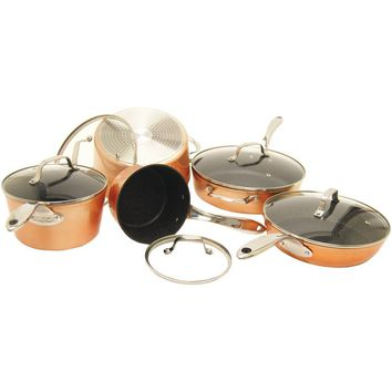 The Rock By Starfrit The Rock By Starfrit 10-piece Copper Cookware Set SRFT030910