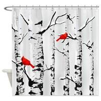 Winter Birch Trees And Cardinals Shower Curtain> Decorator Shower Curtains> MORE PRODUCTS-CLICK HERE-GetYerGoat.com