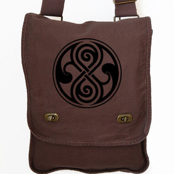 Seal of Rassilon Doctor Who Inspired Messenger Bag