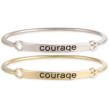 Courage Stamped Word Bangle