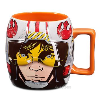 Licensed cool Disney Store EXC. Star Wars 3D LUKE SKYWALKER Sculpted Ceramic Coffee Mug 24 OZ