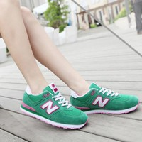 """New Balance"" Fashion Casual All-match N Words Breathable Couple Sneakers Shoes Green"