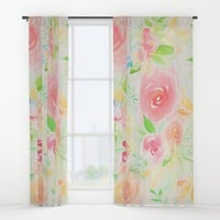 summer flowers Window Curtains by sylviacookphotography