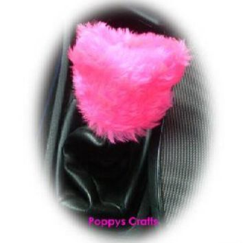 Fluffy cute Barbie Pink Gear knob stick shift cover faux fur