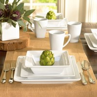 GREAT WHITE SQUARE DINNERWARE