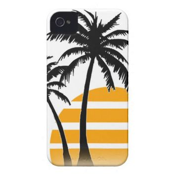 Palm tree iphone case iphone 4 cases from Zazzle.com