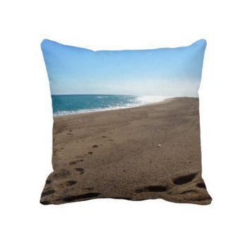 Beach Themed Throw Pillow from Zazzle.com