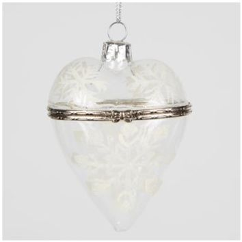 Christmas Trinket Box Bauble Clear