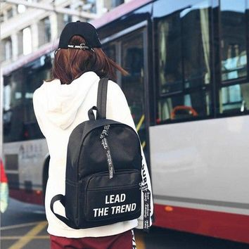 University College Backpack School bag 2018 new  wind casual couple canvas Laptop fashion large capacity youth men and women campus AT_63_4