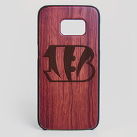 Cincinnati Bengals Galaxy S7 Edge Case - All Wood Everything