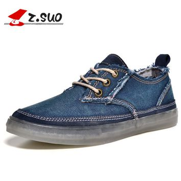 Original Z.Suo 2017 Canvas Espadrille Vintage Men Casual Shoes British Style Retro Leisure Shoes Zapatillas Deportivas Hombre