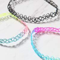 LA Hearts Tie Dye Choker Pack at PacSun.com