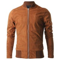 Smooth Tan Bomber Jacket